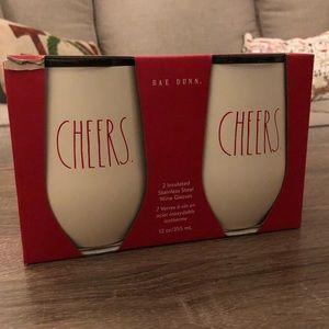 Rae Dunn cheers wine tumblers
